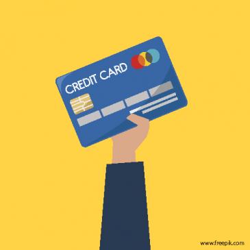 Bild på kreditkort